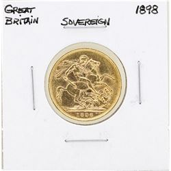1898 Great Britain Sovereign Gold Coin