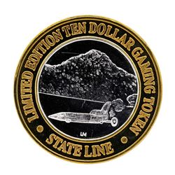 .999 Silver Stateline Wendover, NV $10 Casino Limited Edition Gaming Token