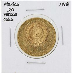 1918 Mexico 20 Pesos Gold Coin