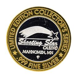 .999 Silver Shooting Star Casino Mahnomen, MN $10 Casino Limited Edition Gaming