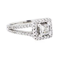 14KT White Gold 1.21ctw Diamond Ring