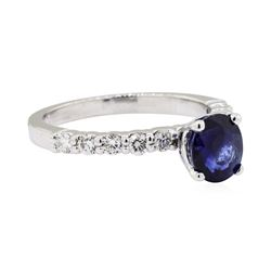 14KT White Gold 1.44ct Sapphire and Diamond Ring