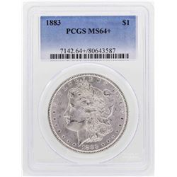 1883 $1 Morgan Silver Dollar Coin PCGS MS64+