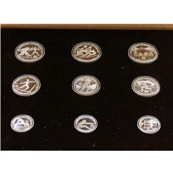 1982 Greece Pan European Olympic Games (9) Coin Silver Set