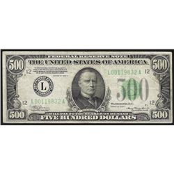 1934A $500 Federal Reserve Note San Francisco