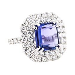 18KT White Gold 3.60ct Tanzanite and Diamond Ring