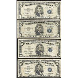 Lot of (4) 1953 $5 Silver Certificate Notes