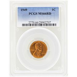 1949 Lincoln Wheat Penny Coin PCGS MS66RD