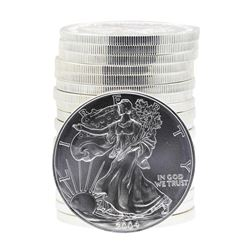 Roll of (20) 2004 $1 American Silver Eagle Brilliant Uncirculated Coins