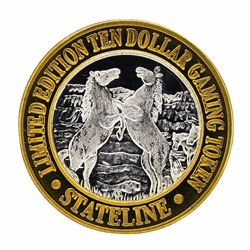 .999 Silver Stateline Wendover, Nevada $10 Limited Edition Casino Gaming Token