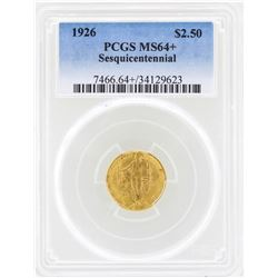 1926 $2 1/2 Sesquicentennial Commemorative Gold Coin PCGS MS64+