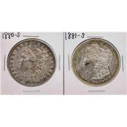 Set of 1880-S to 1881-S $1 Morgan Silver Dollar Coins