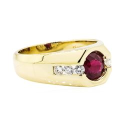 14KT Yellow Gold 1.70ct Ruby and Diamond Ring