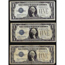 Lot of (3) 1928A $1 Silver Certificate Notes