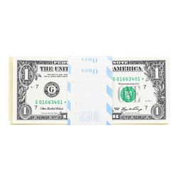 Pack of (100) Consecutive 2006 $1 Federal Reserve STAR Notes Chicago