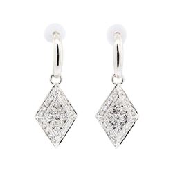 14KT White Gold 0.60ctw Diamond Earrings