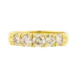 14KT Yellow Gold 1.01ctw Diamond Wedding Ring