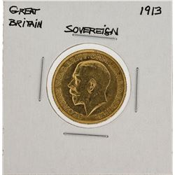 1913 Great Britain Sovereign Gold Coin