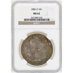 1885-O $1 Morgan Silver Dollar Coin NGC MS62