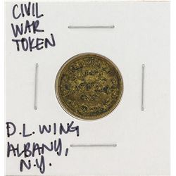 1863 Civil War Token D.L. Wing Albany New York