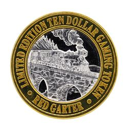 .999 Silver Red Garter Hotel Wendover, NV $10 Limited Edition Gaming Token