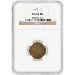 1902 Indian Head Penny Coin NGC MS64BN