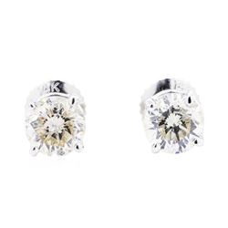14KT White Gold 1.30ctw Diamond Stud Earrings
