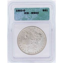 1883-O $1 Morgan Silver Dollar Coin ICG MS63