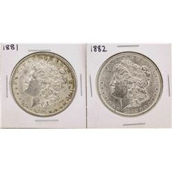 Lot of 1881-1882 $1 Morgan Silver Dollar Coins