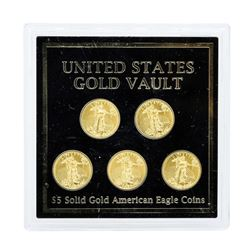 Lot of (5) 2016 $5 American Gold Eagle Coins