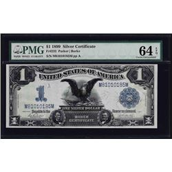 1899 $1 Black Eagle Silver Certificate Note Fr.232 PMG Choice Uncirculated 64EPQ