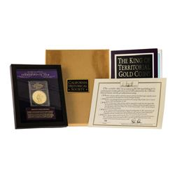 1855 $50 Kellogg SS Central America Commemorative Gold Coin Gem Proof