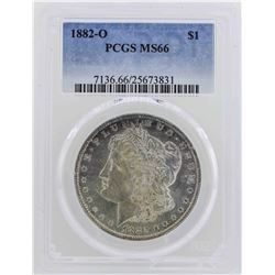 1882-O $1 Morgan Silver Dollar Coin PCGS MS66