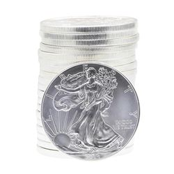 Roll of (20) 2014 $1 American Silver Eagle Brilliant Uncirculated Coins