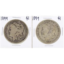 Lot of (2) 1899-S $1 Morgan Silver Dollar Coins