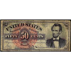 1863 Fifty Cents Fourth Issue Fractional Currency Note