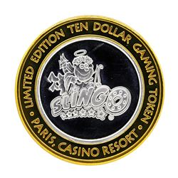 .999 Silver Paris Casino Resort Las Vegas, NV $10 Casino Gaming Token Limited Ed