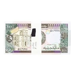 Pack of (100) Sudan 100 Pounds Uncirculated Notes