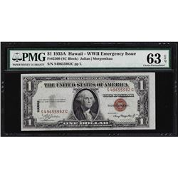 1935A $1 Hawaii Silver Certificate WWII Emergency Note PMG Choice Uncirculated 6