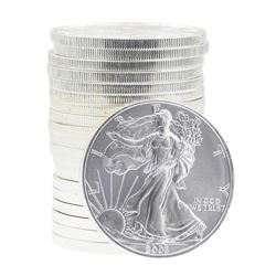 Roll of (20) 2003 $1 American Silver Eagle Brilliant Uncirculated Coins