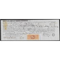 1862 Morris Canal & Banking Company Stock Certificate