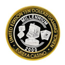 .999 Silver Eureka Casino Mesquite, NV $10 Limited Edition Gaming Token
