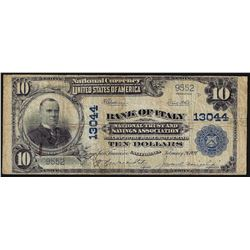 1902 $10 Bank of Italy California National Currency Note CH# 13044