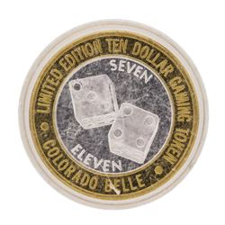 .999 Silver Colorado Belle Laughlin, Nevada $10 Casino Limited Edition Gaming To