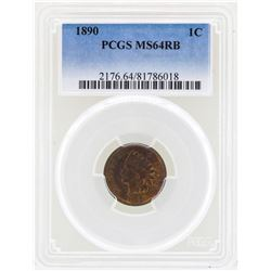 1890 Indian Head Penny Coin PCGS MS64RB