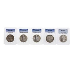 Lot of (5) 1883-O $1 Morgan Silver Dollar Coin PCGS MS64