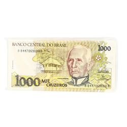 Pack of (100) Brazil 1000 Mil Cruzeiros Uncirculated Notes