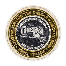 .999 Silver Comstock Hotel and Casino $10 Casino Limited Edition Gaming Token