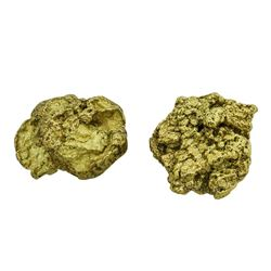Lot of (2) Australian Gold Nuggets 12.36 Grams