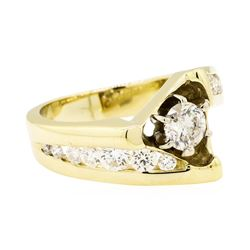 14KT Yellow Gold 1.29ctw Diamond Ring